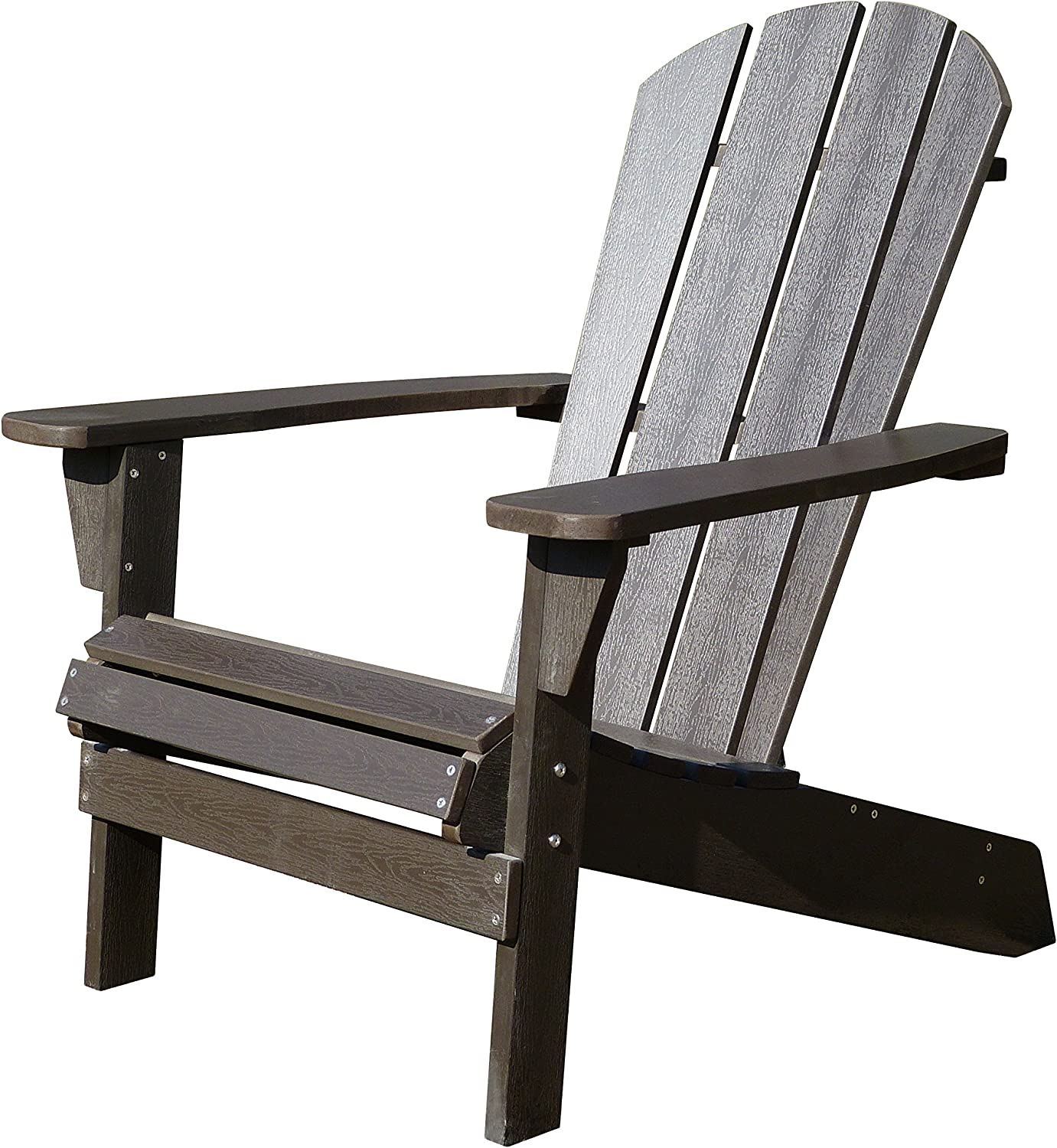 Northbeam Faux Wood Foldable Relaxed Adirondack Chair, Outdoor, Garden, Lawn, Deck Chair, Espresso : Garden & Outdoor