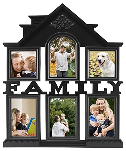 269cbd757f0 Amazon.com - MCS 6 Openings Family Collage Frame with 4-4x6 Inch and 2-4x4  Inch Openings