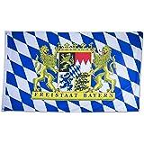 Bayern Fahne mit Ösen Bayern Flagge //Bavaria Flag 90 x 150 cm
