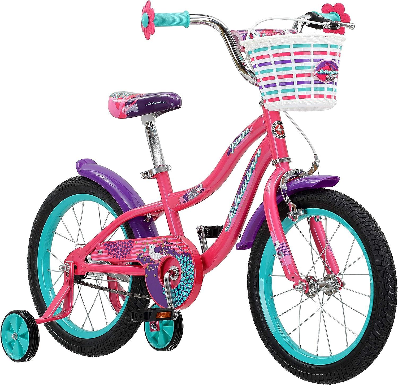 Schwinn Jasmine Bicicleta para niña con ruedas de entrenamiento ...