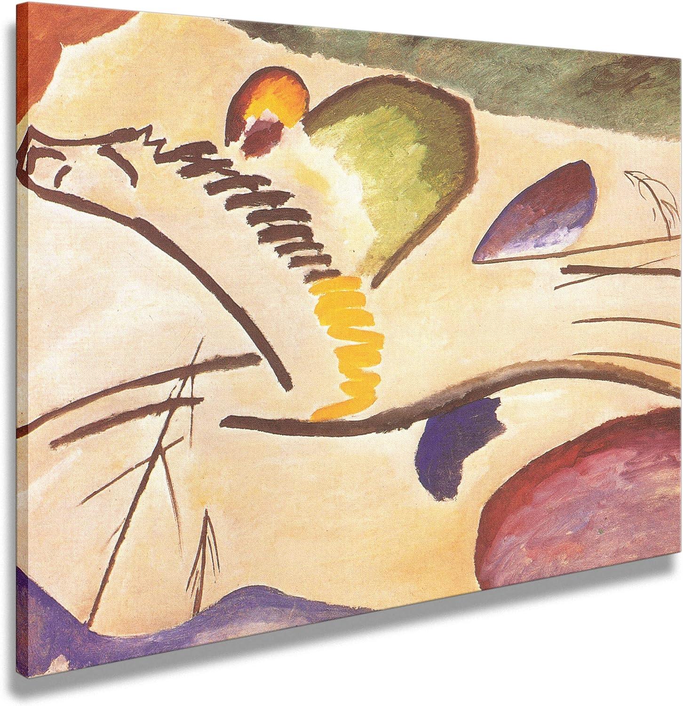 Artenor Cuadro Kandinskij Vasilij Lirico 1911 - Impresión sobre lienzo enmarcado - 76 x 55 cm