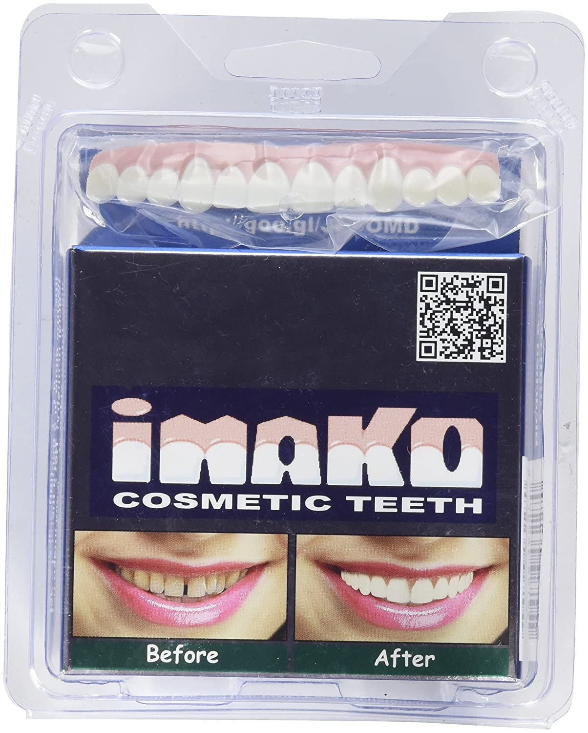 Imako Cosmetic Upper Teeth (Small, Bleached) FBA_Imako