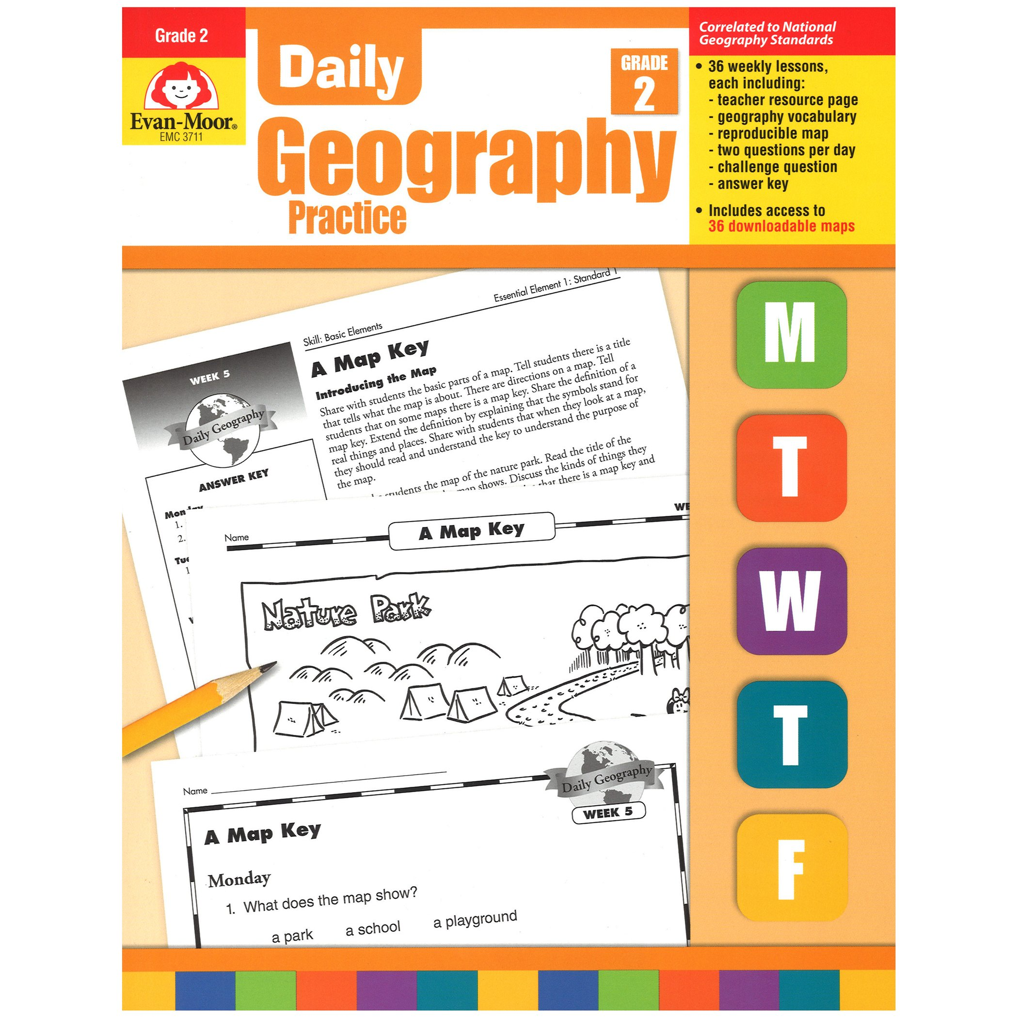 Daily Geography Practice, Grade 2 by EVAN-MOOR (Image #1)