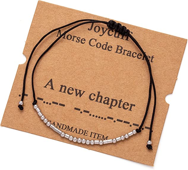 Morse code Fuck Cancer Bracelet Sterling Silver Beads on Silk Cord Gift for women Girls