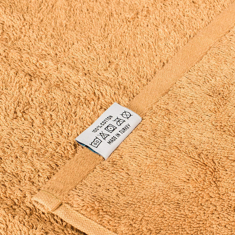 Taupe Egetolia Ultra Soft Over Sized Extra Large Bath Towels Bulk Set of 4 27x 54