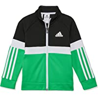 Adidas Boys' FB Track Top, Black/Vivid Green/White(Black), 110(4-5 Years)
