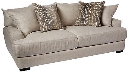 Amazon.com: Franklin Furniture Classic Oslo Sofa, Large, Linen ...