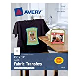 "Amazon Price History for:Avery Dark T-Shirt Transfers, Matte, 8-1/2"" x 11"", 5 Sheets, Case Pack of 6 (3279)"