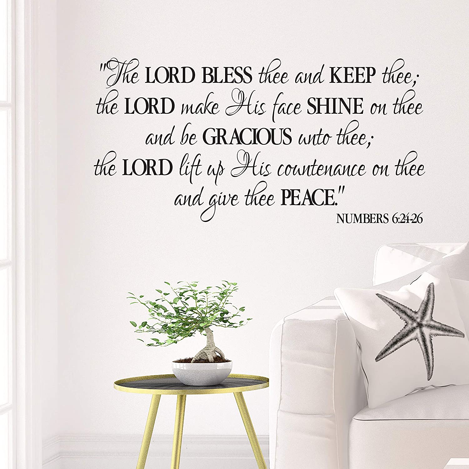 PRAISE THE LORD wall decal home church decor ANY COLOR