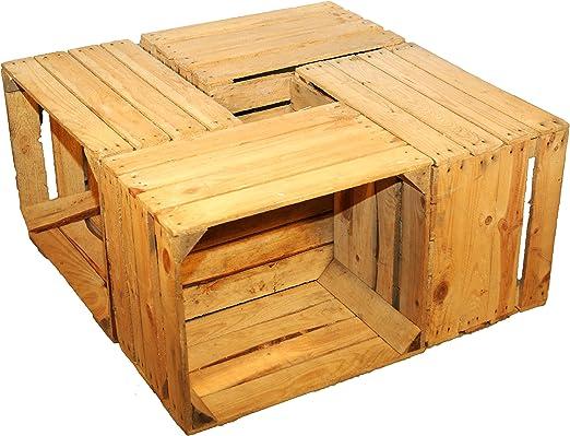 4 Piezas sólido Cajas de fruta - Cajas de vino Caja madera Cajas ...