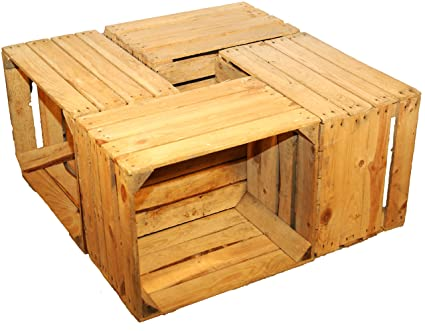 beef7a53b7658 4 Sturdy Fruit Crate-Produce wine boxes from the Old World Natural Wood