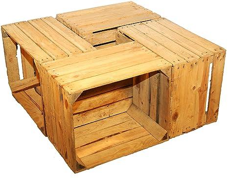 4 Piezas sólido Cajas de fruta - Cajas de vino Caja madera Cajas de manzana +