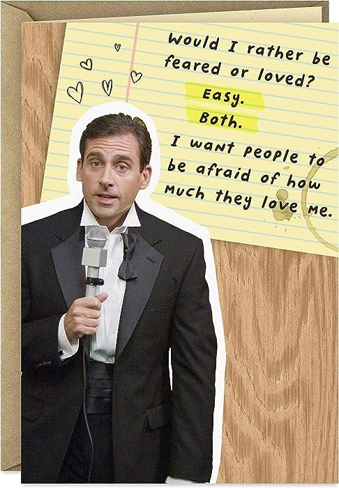Hallmark Shoebox The Office Birthday Card (Michael Scott, Afraid of How Much They Love Me) (399RZF1390)