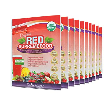 Organic supremefood (10 unidades), color rojo Plus ...