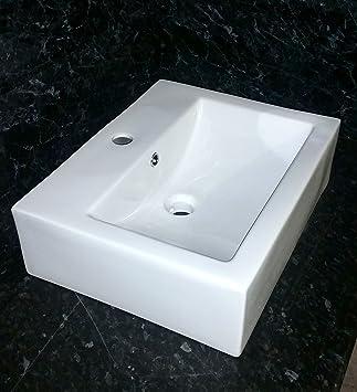 Attrayant Encastrable Rectangulaire Comptoir Évier En Céramique Blanc/salle De Bains  Lavabo New