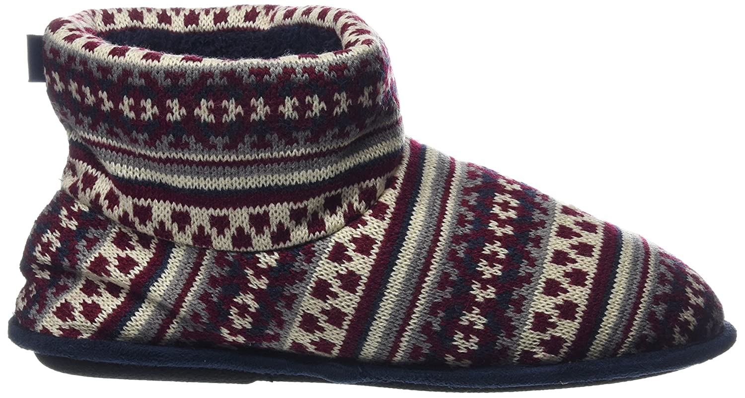 bc9c13b40 Totes s Mens Fairisle Knit Bootie Slippers Hi-Top: Amazon.co.uk: Shoes &  Bags