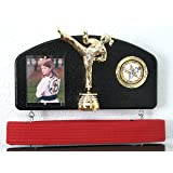 Martial arts belt display. Expandable to hold ALL your belts ! Female Trophy style.