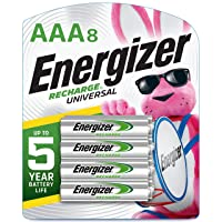 Energizer Rechargeable AAA Batteries, 700 mAh NiMH, Pre-charged, Chargeable for...