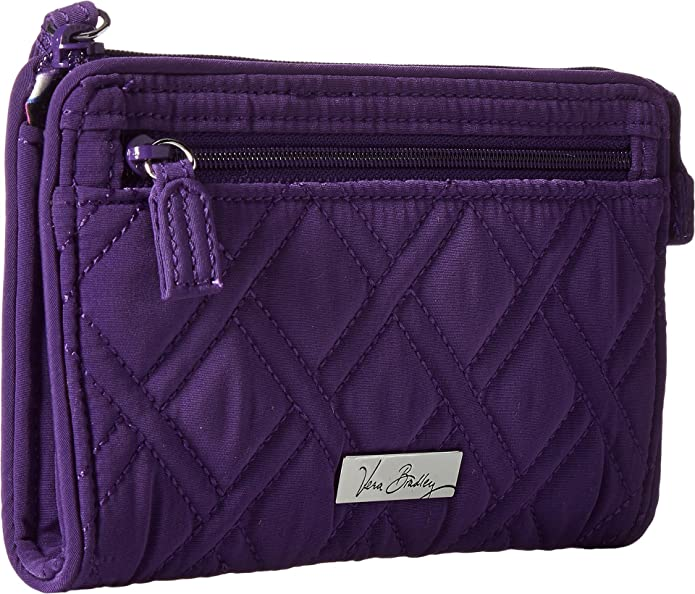 Womens Front Zip Wristlet Elderberry One Size Vera Bradley