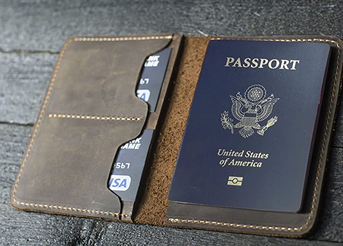 62a97c296 Amazon.com  Personalized Leather Passport Wallet