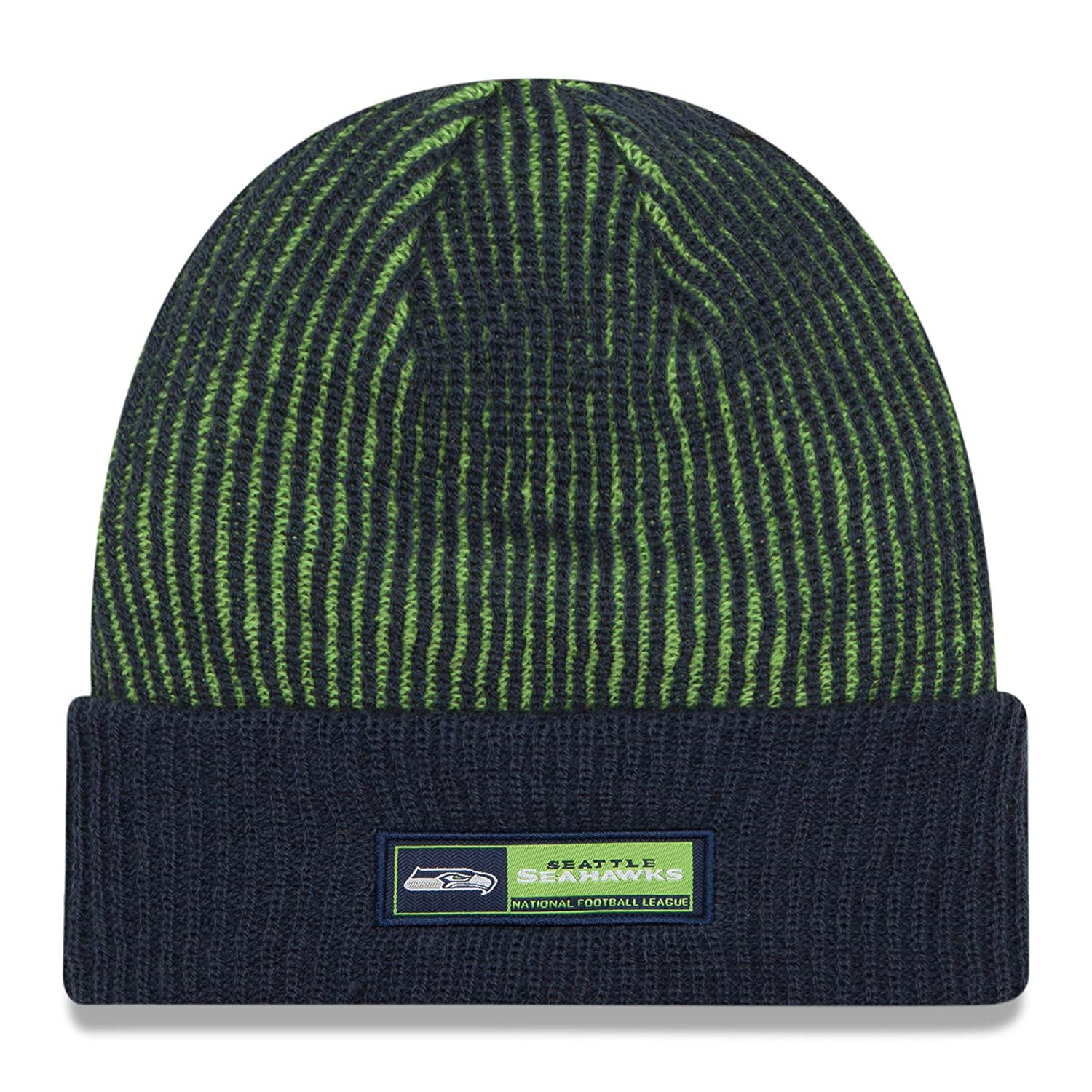 f59c9ba7818 Amazon.com   New Era Seattle Seahawks Adult Size 2016 Sideline Official  Tech Knit Beanie Hat - OSFA   Sports   Outdoors