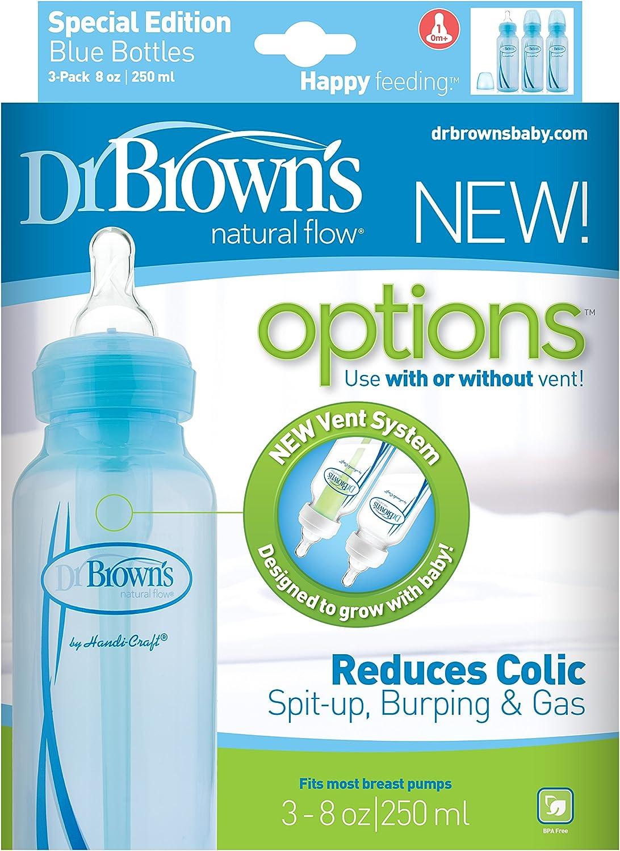 anti-coliques biberons Ensemble Cadeau En Bleu UK STOCK-NEUF Dr Brown/'s options