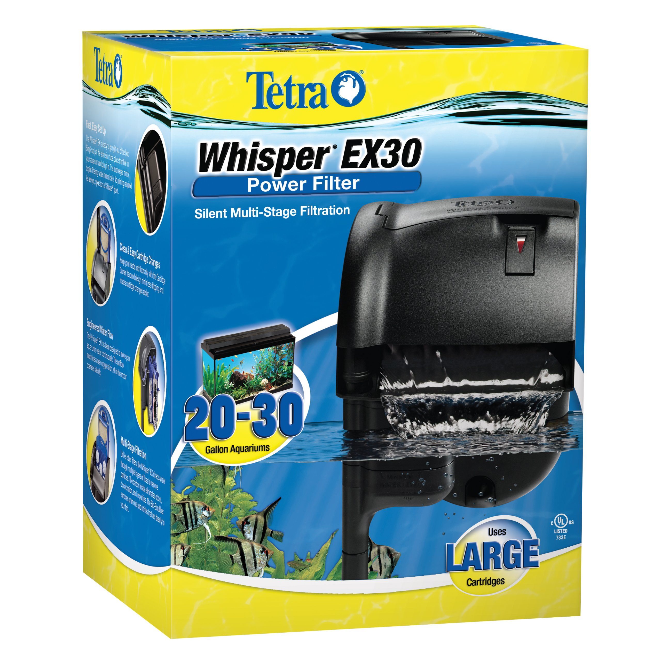Tetra Whisper EX Silent Multi-Stage Power Filter for Aquariums by Tetra