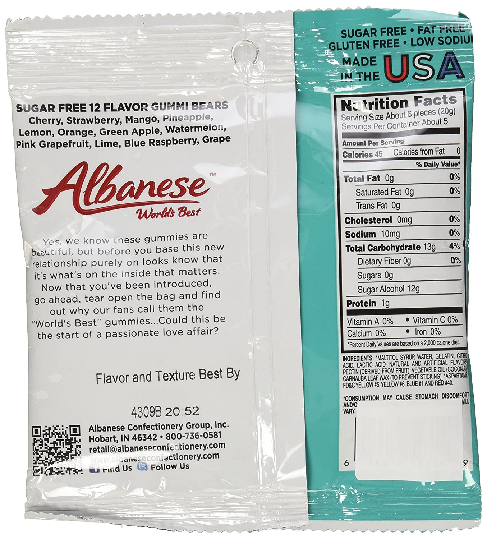 Amazon.com : Albanese Sugar Free 12 Flavor Gummi Bears 3.5 Ounce Pack of 6 : Grocery & Gourmet Food