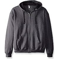 Fruit of the Loom Men's Full-Zip Hooded Sweatshirt-Extra Sizes, Charcoal Heather