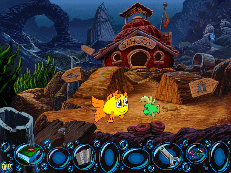 Freddi fish 2 the case of the haunted schoolhouse online for Freddi fish online