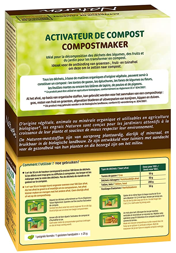 NATUREN - Activador de Compost orgánico enriquecido en nitrógeno ...