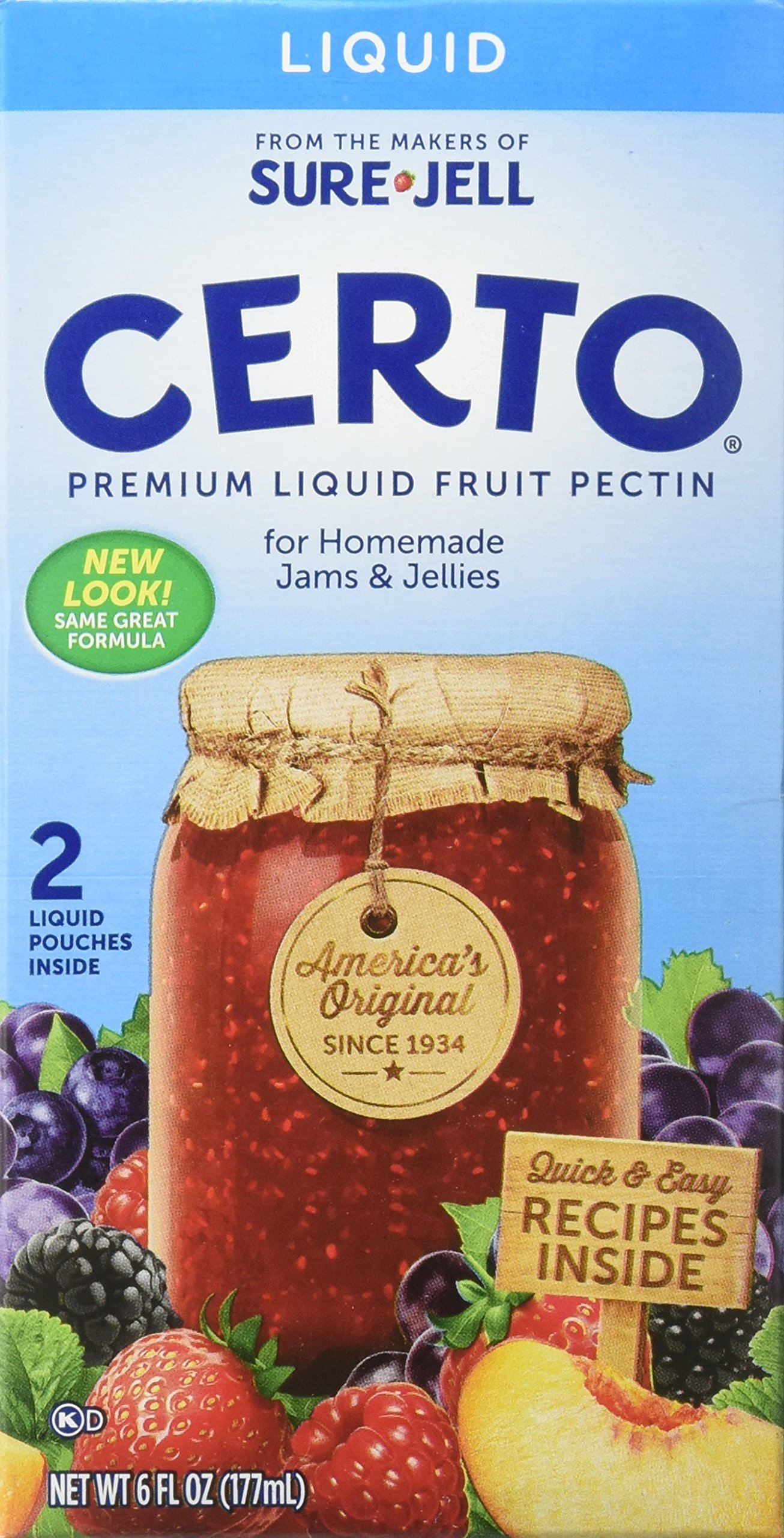 Sure Jell Certo Fruit Pectin, 4 Count