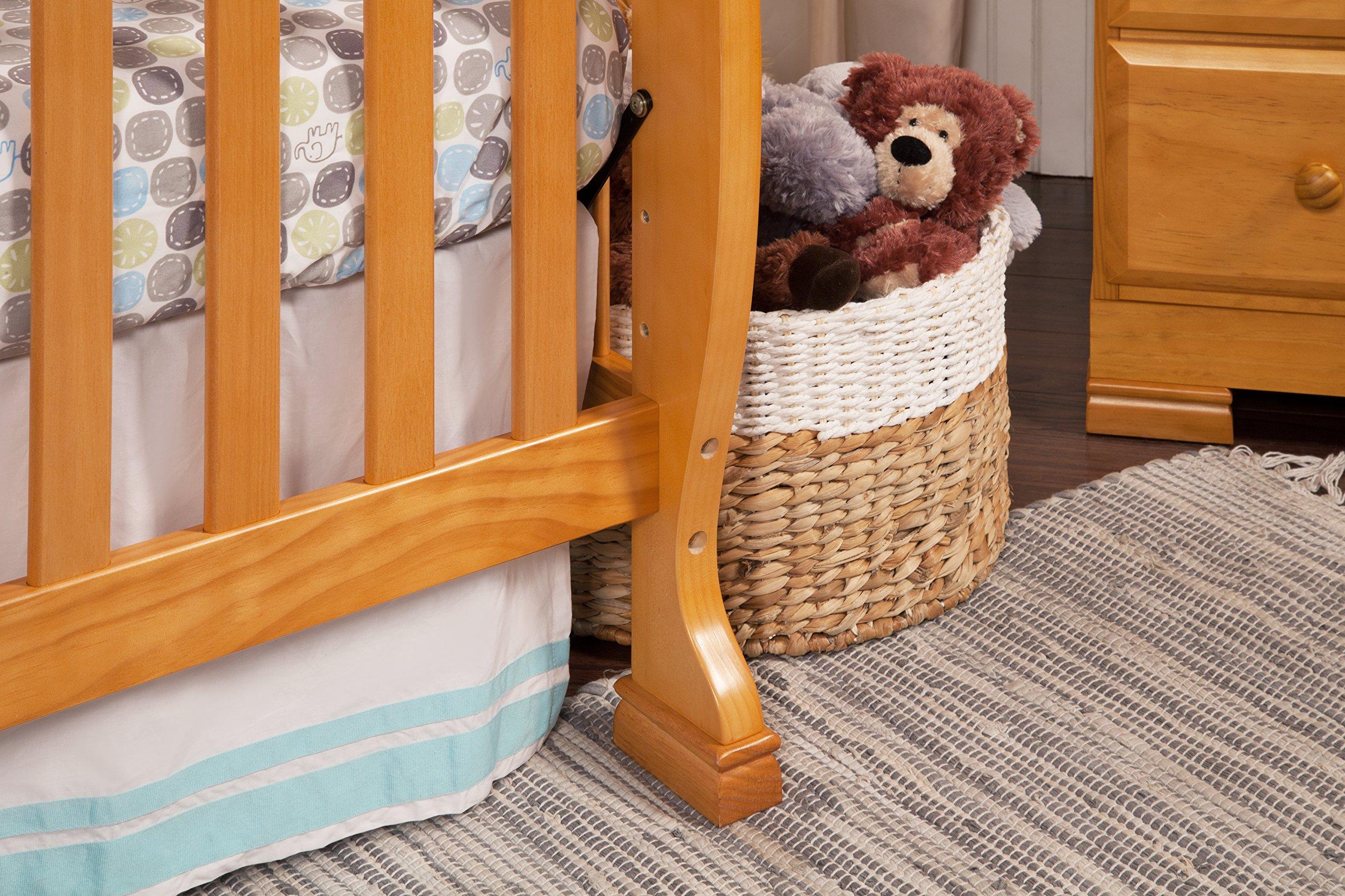 DaVinci Kalani 4-In-1 Convertible Crib, Honey Oak by DaVinci (Image #6)