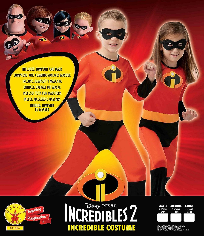 Rubies 641004-M Los IncreÍbles - Disfraz de Dash para niños, Talla ...