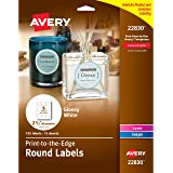 """Avery Round Labels, Glossy, Full Bleed, Permanent Adhesive, 2-1/2"""" Diameter, Pack of 135 (44830)"""