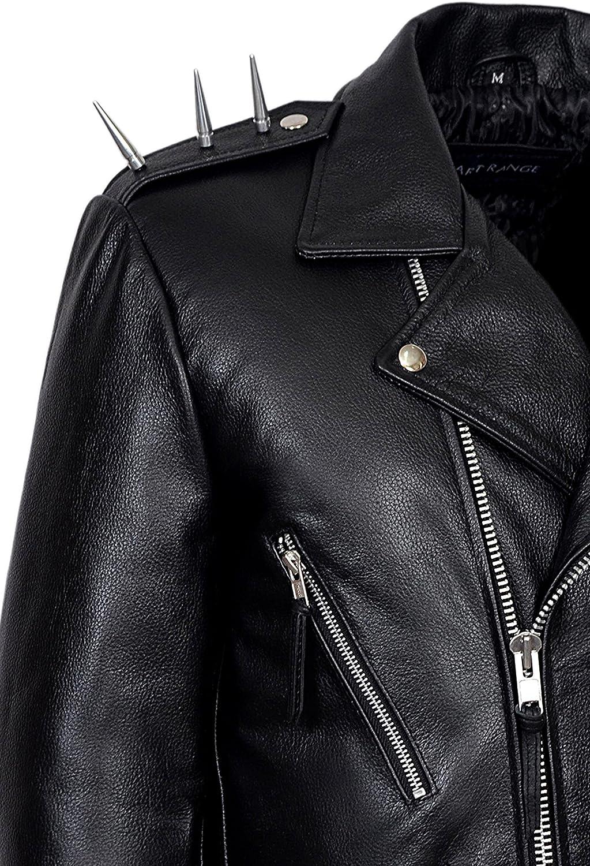 Men/'s Black GHOST RIDER Movie Casual Real Hide Biker Motorcycle Leather Jacket