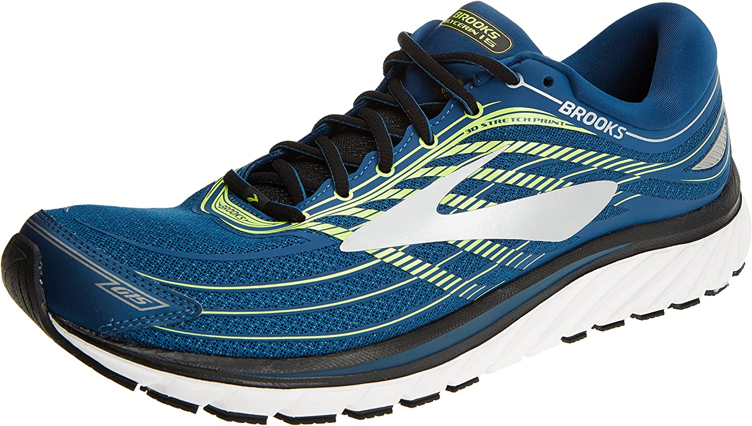 Brooks Glycerin 15, Zapatillas de Running para Hombre, Multicolor (Blue/Lime/Silver 1d473), 46.5 EU: Amazon.es: Zapatos y complementos
