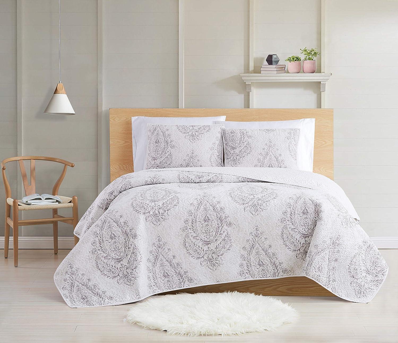 Cottage Classics Paisley Blossom Quilt Set, King
