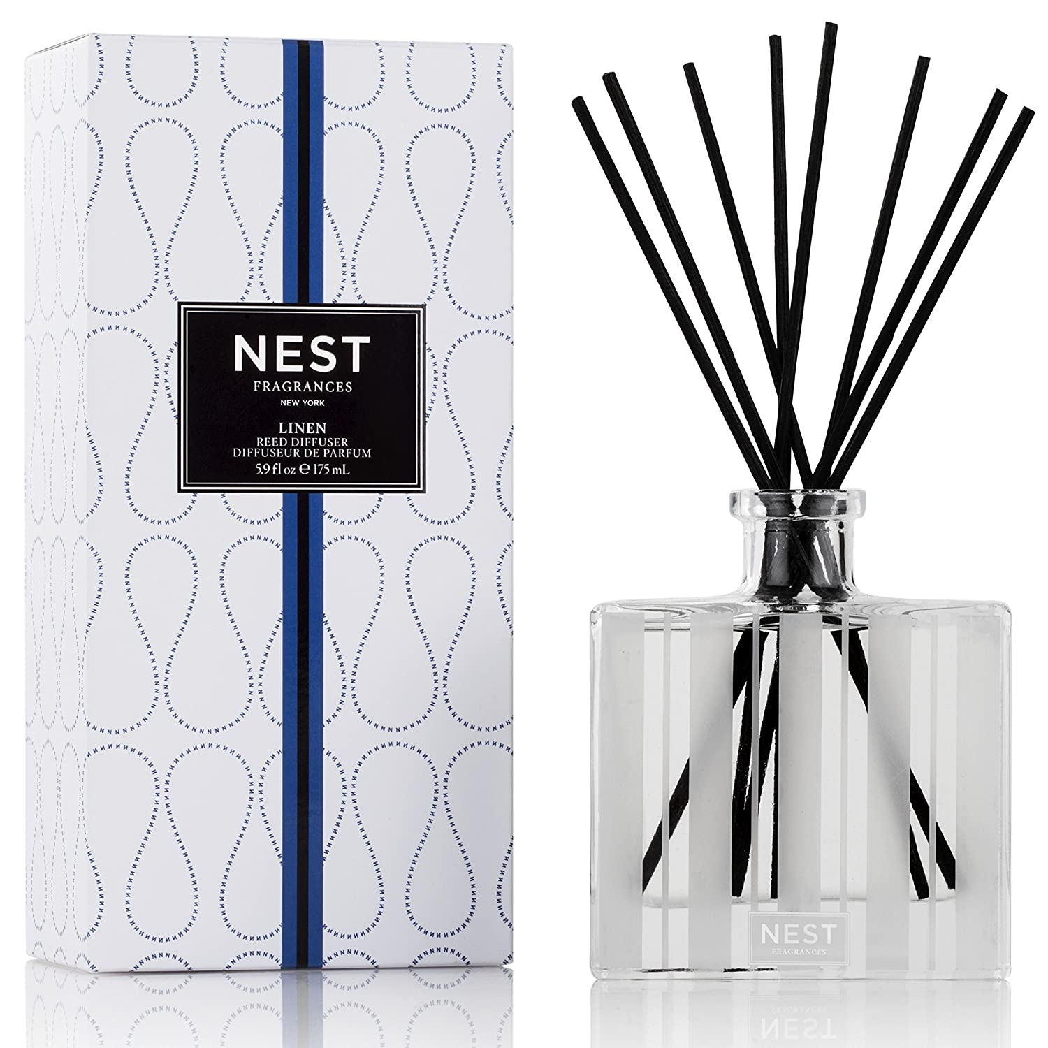 NEST Fragrances Linen Reed Diffuser, 5.9 fl. oz. NEST08LN002