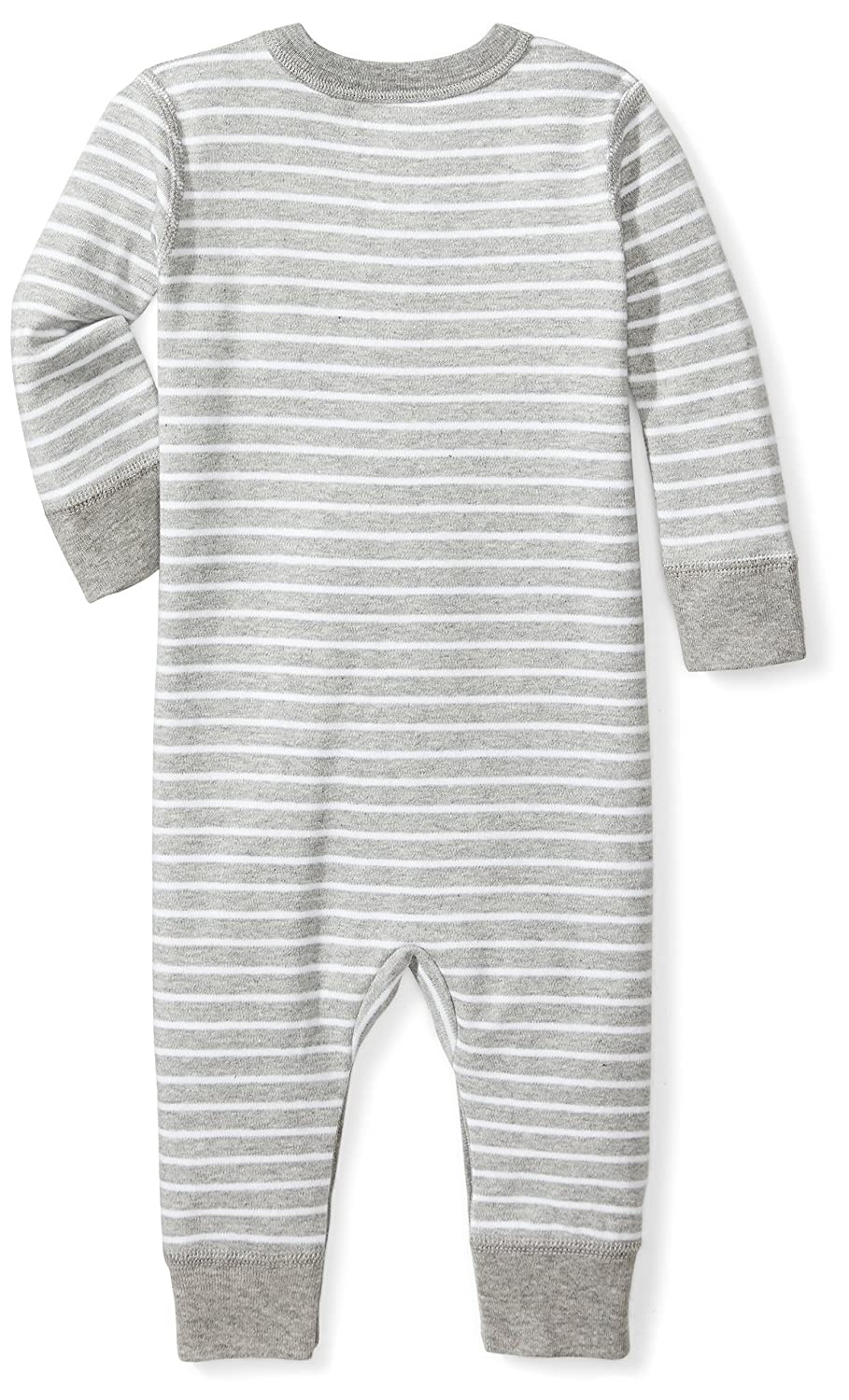 18 Months Moon and Back Baby Organic Snap-Front One-Piece Coverall with Cap Set Grey Heather