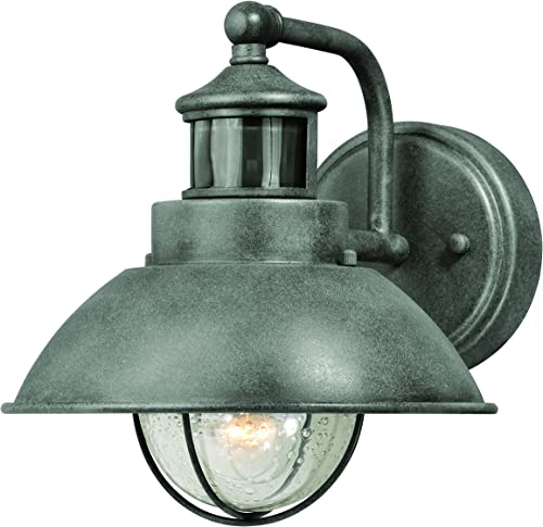 VAXCEL Harwich Gray Motion Sensor Dusk to Dawn Coastal Outdoor Wall Light