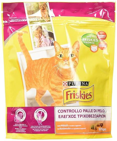 Friskies pienso para el Gato, con Control Bolas de Pelo, con Pollo y Verduras