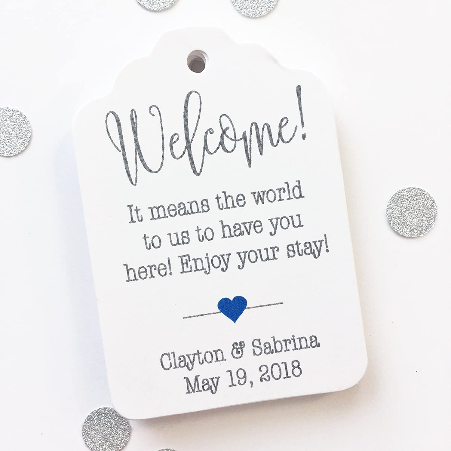 Welcome! Destination Wedding Favor Hang Tags (ST-184)