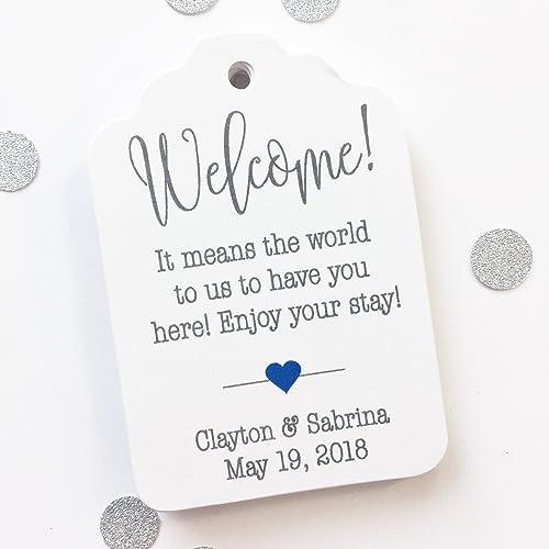 Destination Wedding Tags, Hotel Bag Tags, Welcome Wedding Tags, Custom Favor Tags (ST-184)