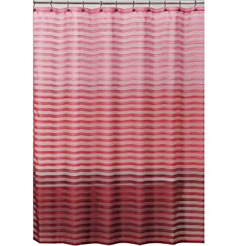Allure Home Creations Ombre Stripe Shower Curtain Pink