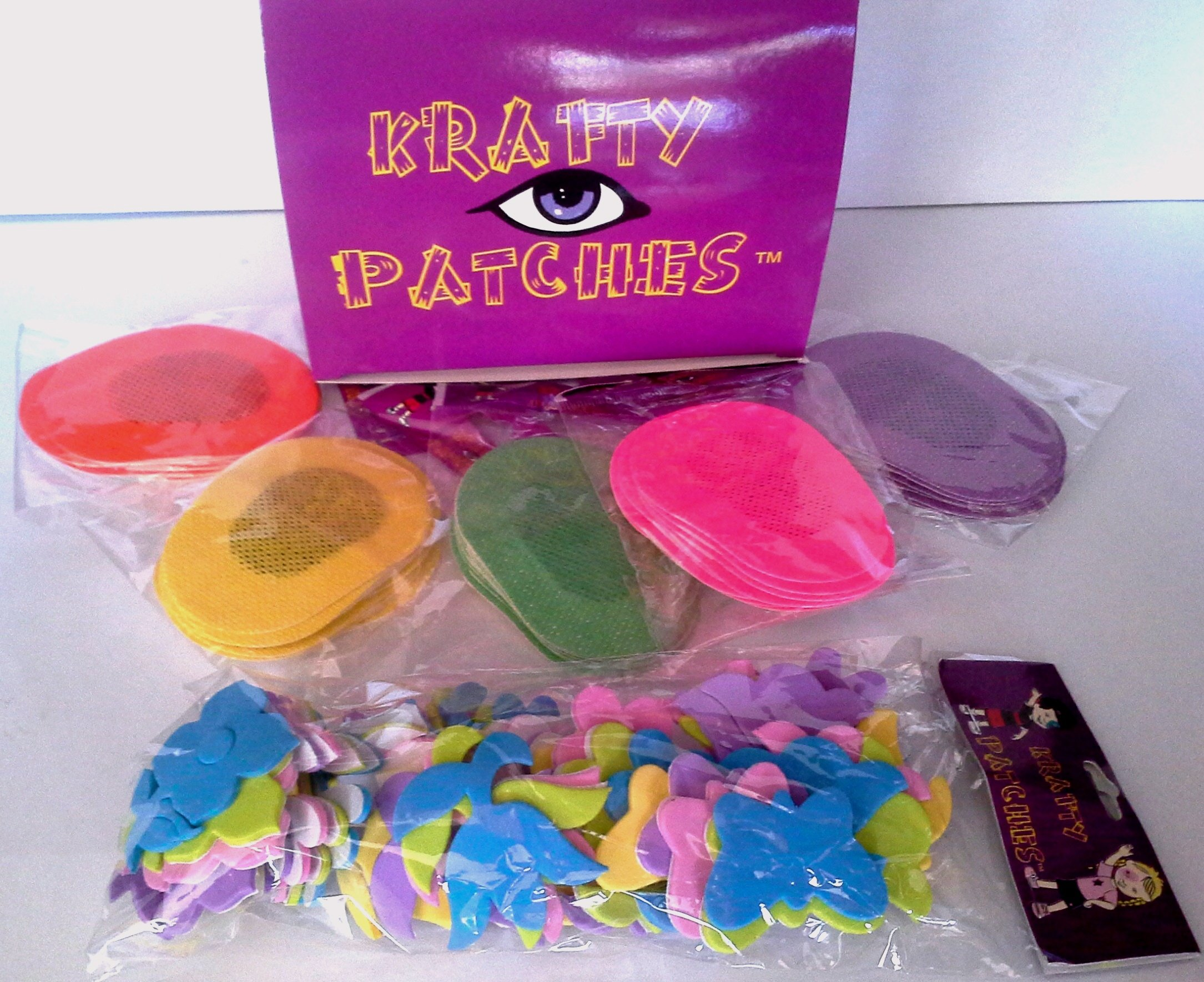 Krafty Eye Patches (GIRL) Medium Size 50 patches & 1 bag foam stickers ages 0 to 4yrs old