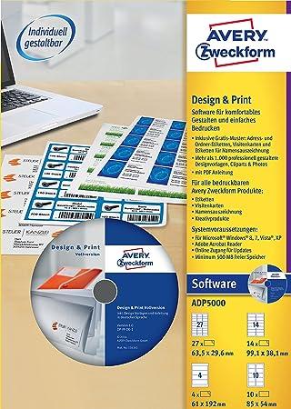 avery zweckform cd etiketten software