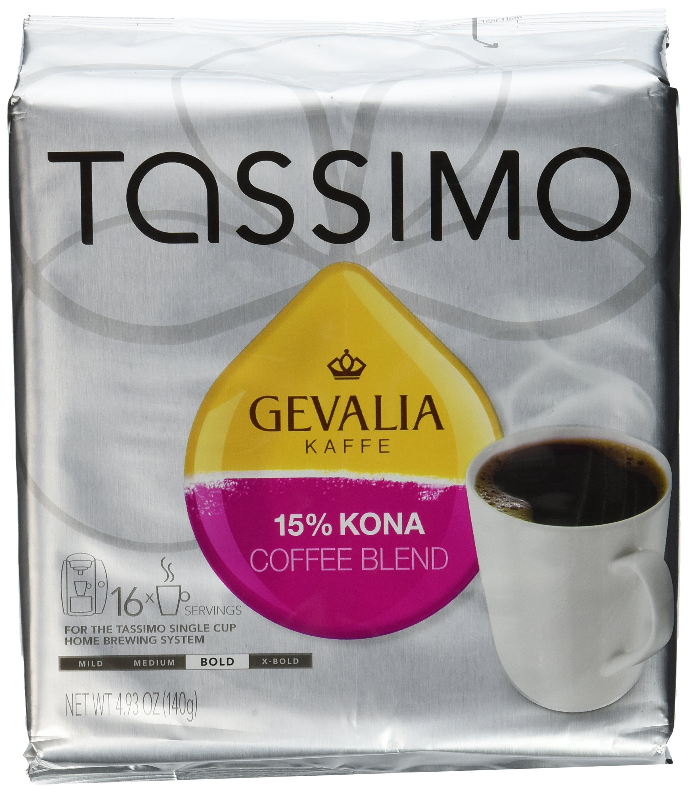 Gevalia Kaffe 15% Kona Blend Coffee (Pack of 2)