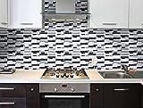 Crystal Peel and Stick Tile Backsplash-Gray