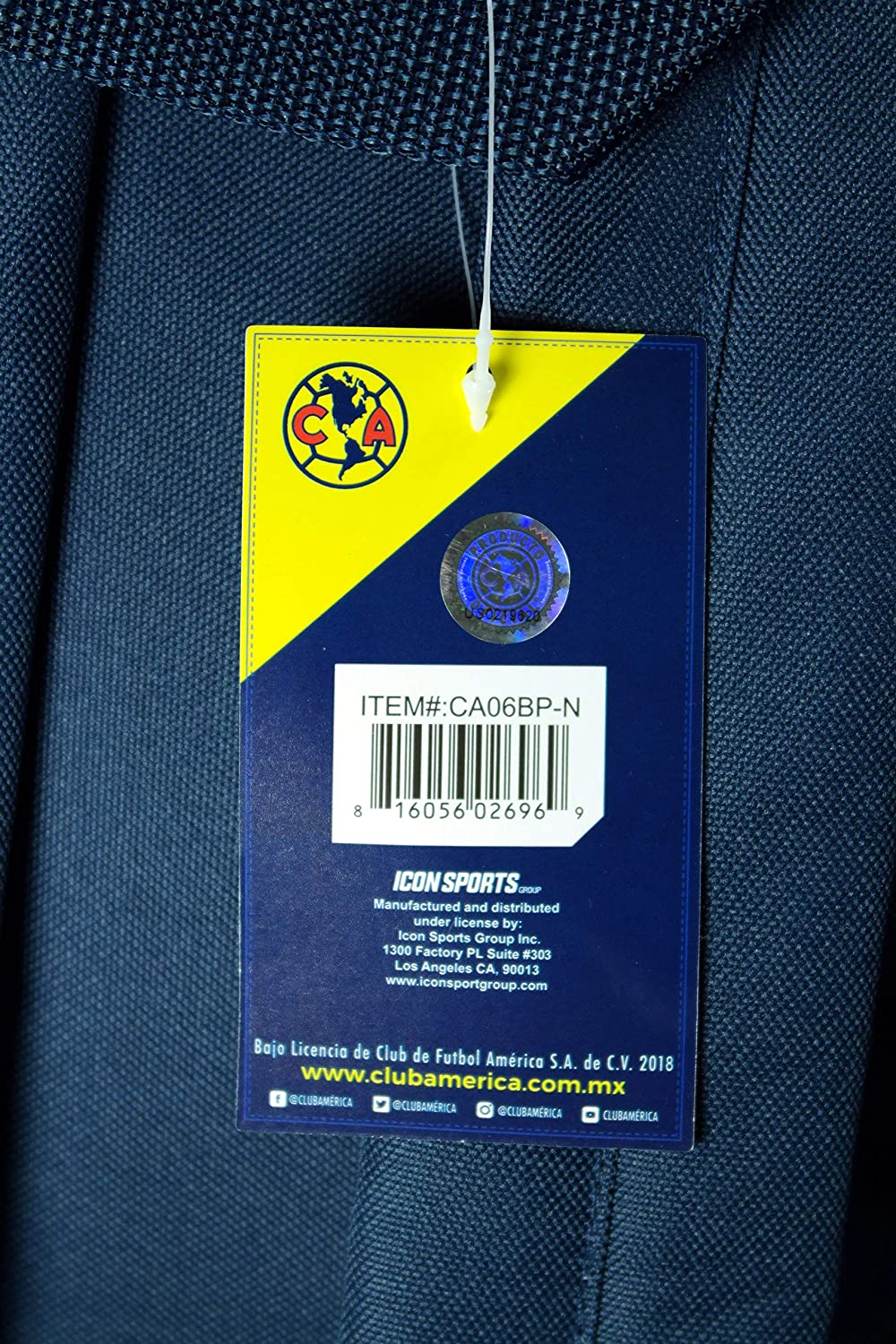 Club America Authentic Official Licensed Product Soccer Backpack 04